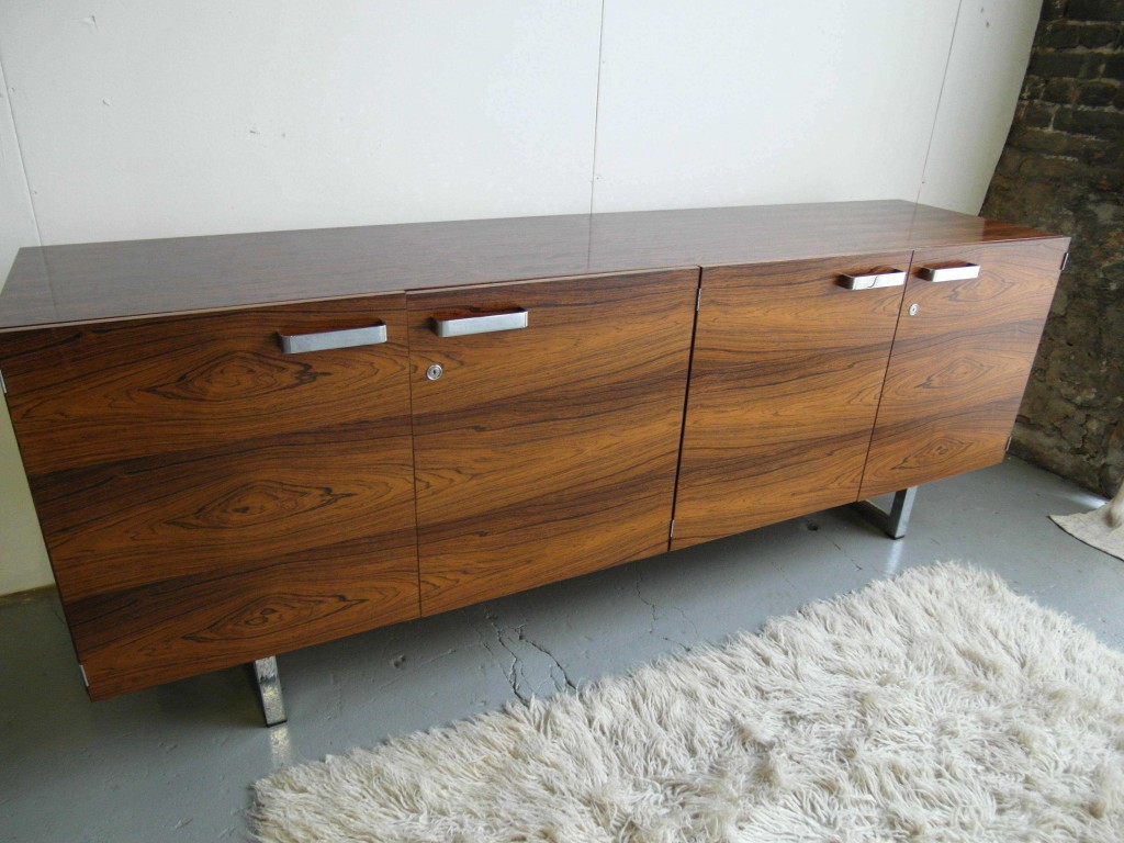 Gordon Russell GR1 Series Credenza in Brazilian Rosewood & Chrome £2500