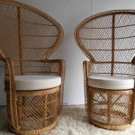 Stunning Pair of 1970s Whicker Peacock Chairs £295SOLD