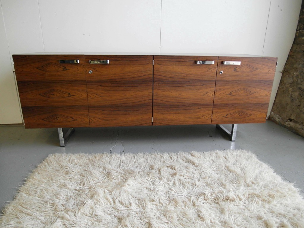 Gordon Russell GR1 Series Sideboard in Brazilian Rosewood & Chrome £2500 SOLD