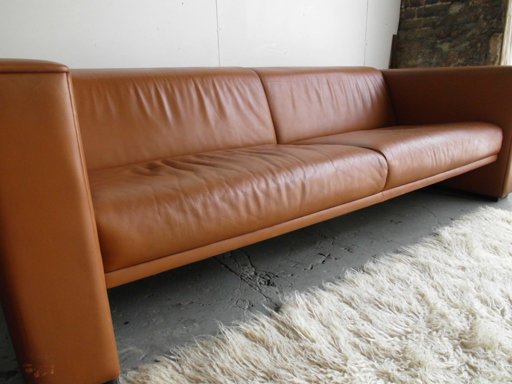 Vintage De Sede Four Seater Sofa & Matching Armchair in Tan Neck Leather £695SOLD