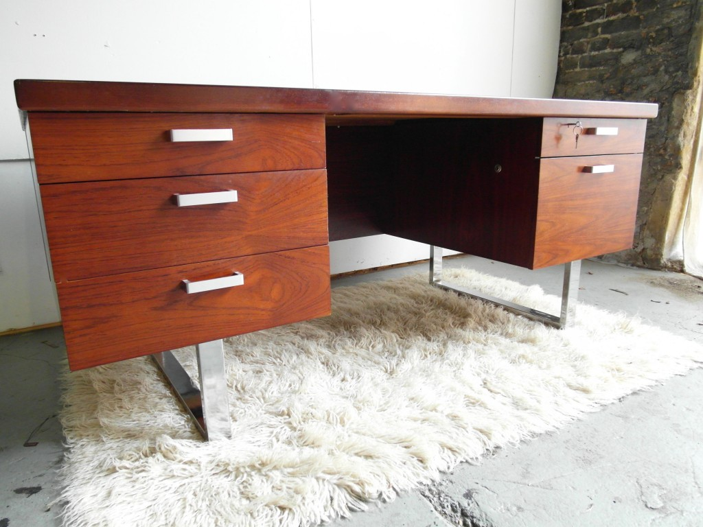 Vintage Gordon Russell GR Series Desk In Rosewood and Chrome £735 SOLD