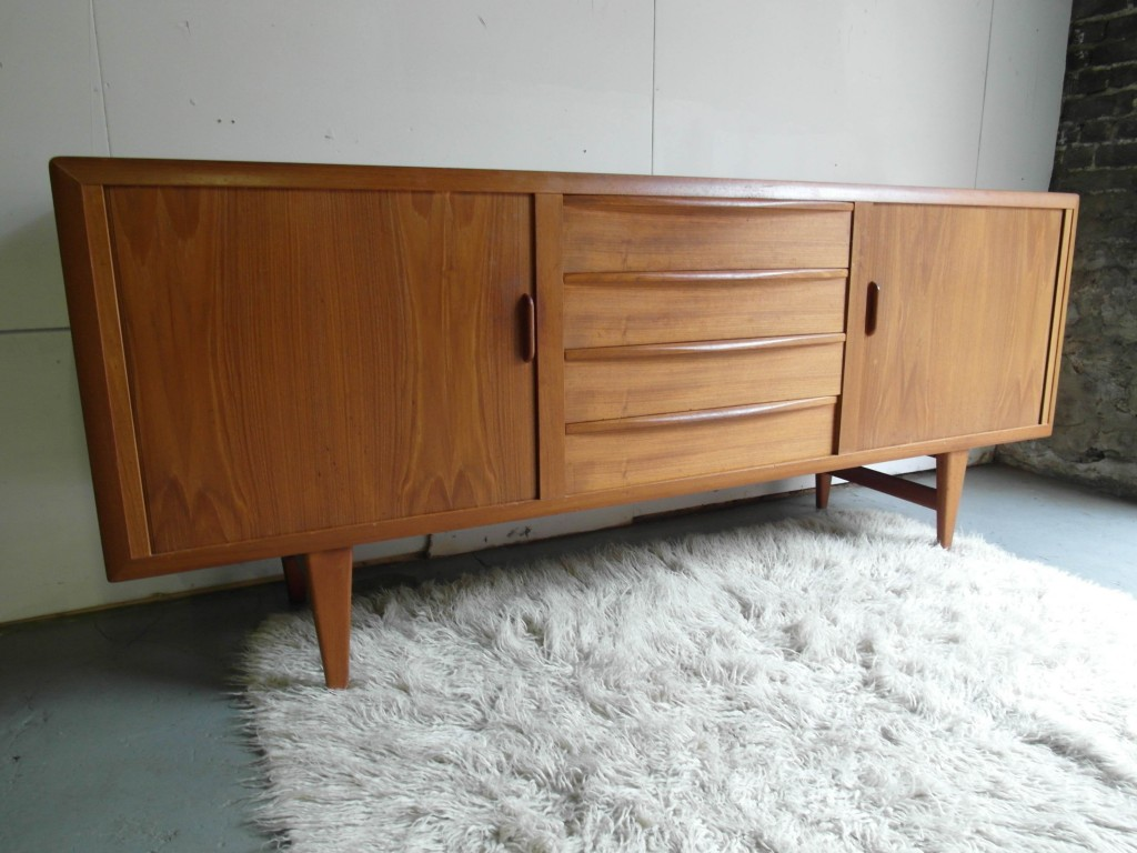 Vintage Solid Teak Danish Sideboard by Johannas Anderson with Tambour Doors £760
