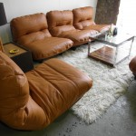 "Rare Michel Ducaroy  Modular Suite for Ligne Roset . ""As New"" in Cognac Neck Leather £3500"