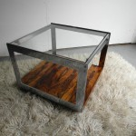 Richard Young Side Table in Chrome, Brazilian Rosewood and Glass for Merrow Associates £595 SOLD