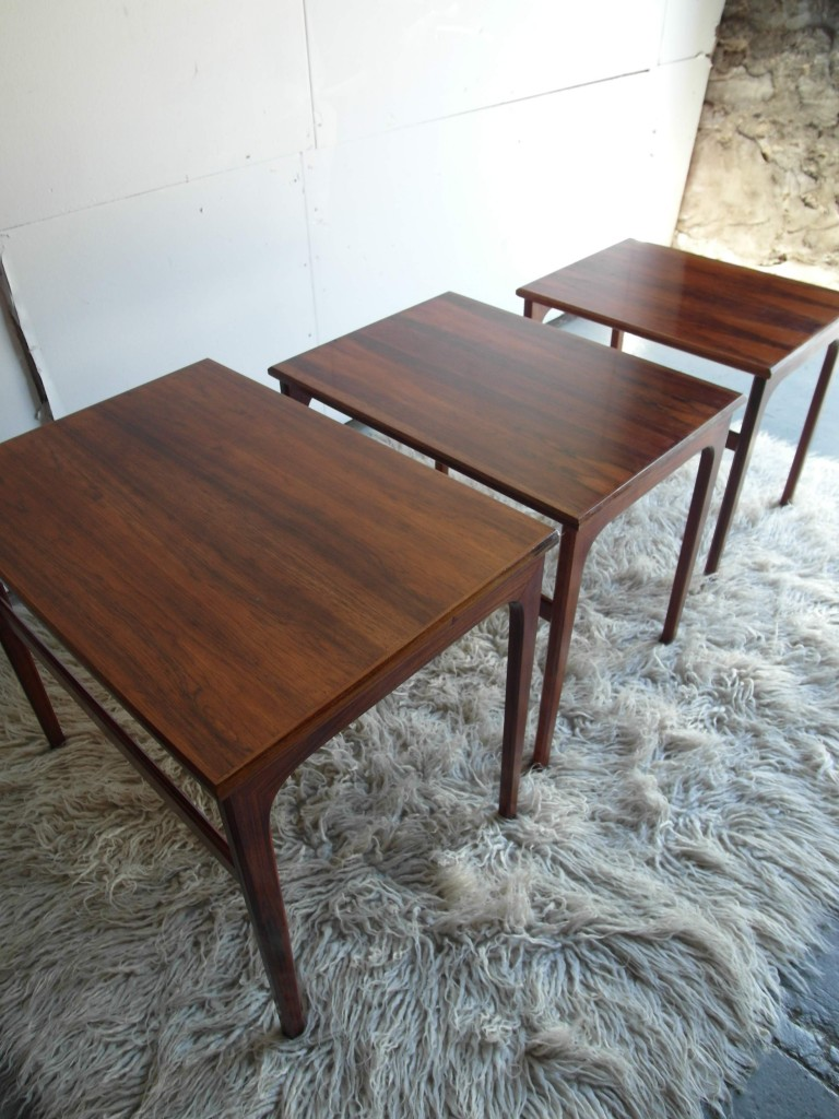 Nest Of Tables in Rosewood By Johannas Anderson £195 SOLD
