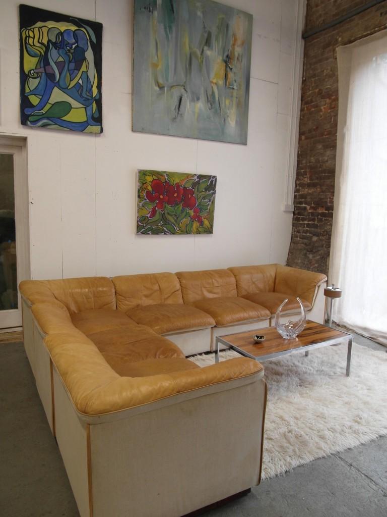 Vintage Danish Leather Modular Corner Sofa £2750 SOLD