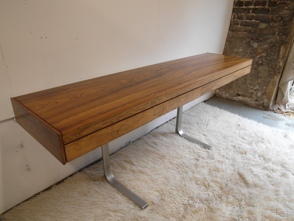 Vitngae Robert Heritage Rosewood and Aluminium Sideboard For Heals £2950 SOLD