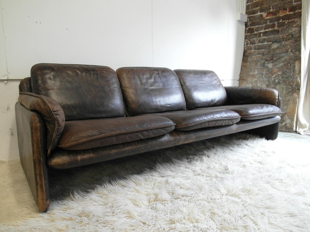 Vintage de Sede Three Seater Sofa in Neck Leather with Original Patina SOLD