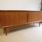 Vintage Teak Tambour Door Sideboard By Arne Vodder for Bernhard Pederson £1295 SOLD