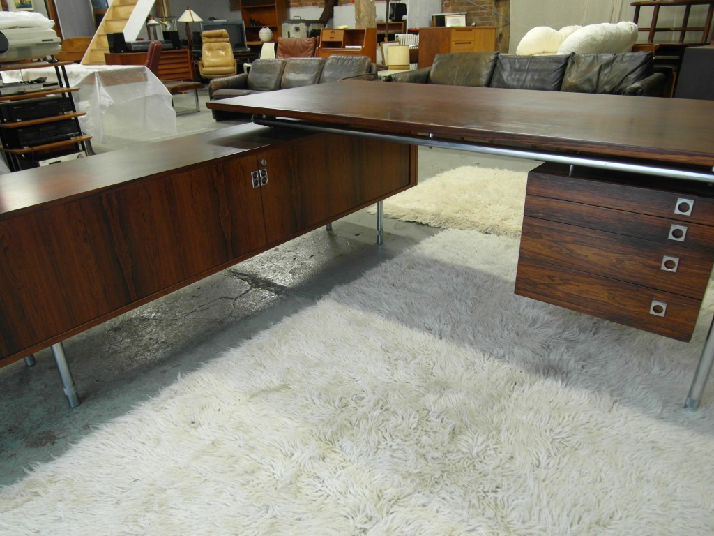 Vintage Arne Vodder Desk and Sideboard Return in Rio Rosewood £3995SOLD