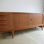 Vintage Tambour Door Danish Sideboard  in Solid Teak By Johannes Andersen £995SOLD