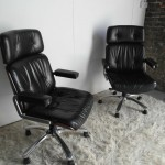 Gordon Russell GR Series Swivel Chair in Leather and Rosewood £595 each