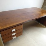 Vintage Dyrlund Executive Desk in Rosewood and Chrome  £775SOLD