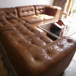 Vintage Danish Modular Sofa in Tan Patchwork Leather £2125