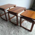 Vintage Dyrlund Nest of Tables in High Grain Teak £245