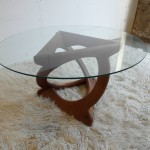 "Vintage Gorge Jensen "" Kubus"" table in teak and Glass  £595"