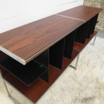 Matching Pair of Jacob Jensen Cabinets in Rosewood and Aluminium for B&O £500 SOLD