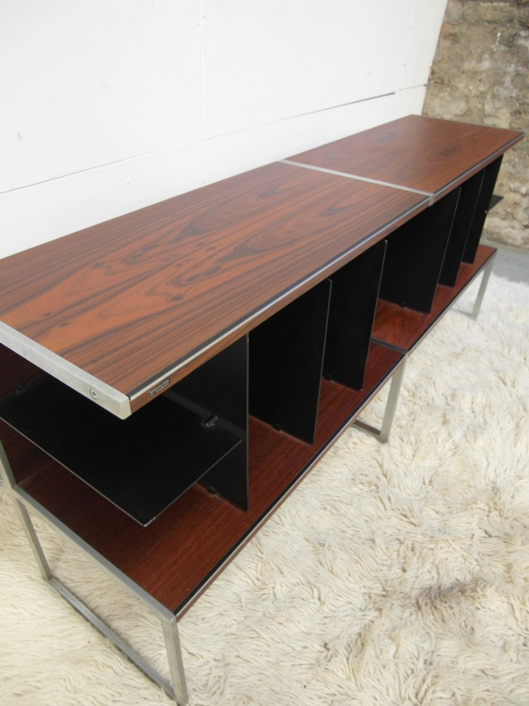 Matching Pair of Jacob Jensen Cabinets in Rosewood and Aluminium for B&O £500