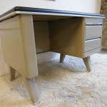 1950's Small Steel Industrial Desk by Sclessin £495 SOLD