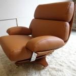 Rare Ib Kofod Larsen Housemaster Swivel Chair in Cognac Leather £1495