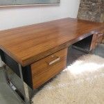 Gordon Russell GR1 Desk in Rio Rosewood and Chrome By Ray Leigh £1585