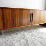 Vintage Dyrlund Tambour Door Sideboard For Dyrlund in Rio Rosewood £1995