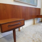 Vintage G Plan Fresco Headboard with Floating side Tables. In Teak £295 SOLD