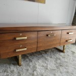 Gordon Russell GR1 Low Credenza in Rio Rosewood and Gold £1695
