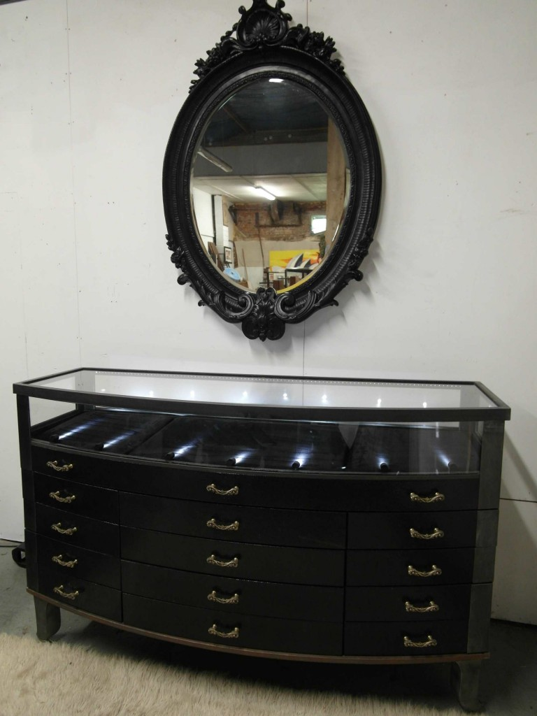 Bespoke Jewellery Cabinet Designed by Stephen Webster for His Mount St Showroom With Full Security Features £6995