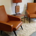 1950's Tan French Salon Chairs 500 SOLD